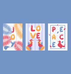 set typographic banners vector image