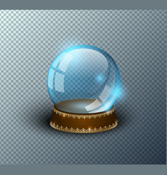 snow globe empty template isolated vector image