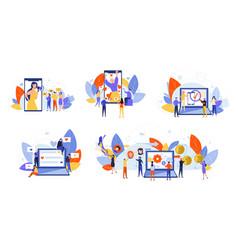Social media marketing monetization promotion vector