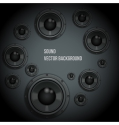 Sound Load Speakers on dark background vector image