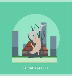 Surabaya city conceptual design vector