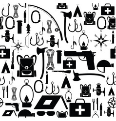Survival kit seamless pattern background icon vector