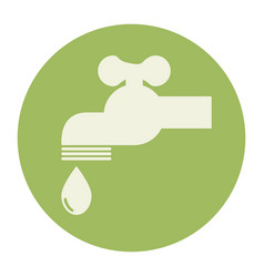 tap water ecology icon vector image