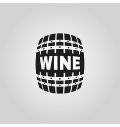 The wine icon Cask and keg alcohol symbol UI vector