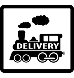 Train delivery icon vector