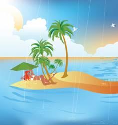 tropical rain vector image