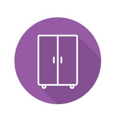 wardrobe flat linear long shadow icon vector image
