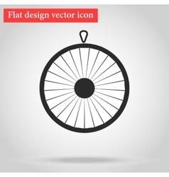 Wheel of fortune icon flat vector