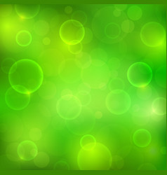 abstract green background with magic lights vector image vector image