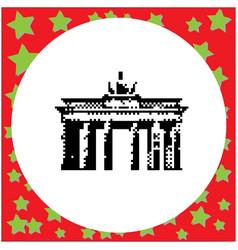 berlin brandenburg gate or brandenburger tor vector image vector image