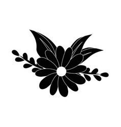flowers and leaves icon vector image