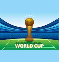 football world cup poster design vector image