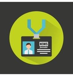 Journalist badge isolated icon vector