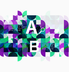 Modern geometric abstract background circles on vector