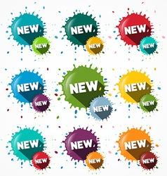 New Icons Set - Blots - Splashes Symbols vector image vector image
