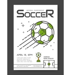 Soccer championship poster vector image vector image