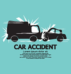 Truck And Car In An Accident vector image vector image
