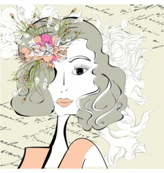 beautiful woman vector image