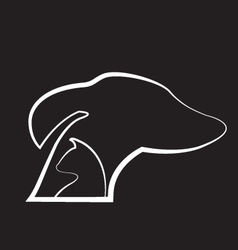 Dog and cat black background logo vector image vector image