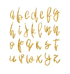 Golden lowercase alphabet vector