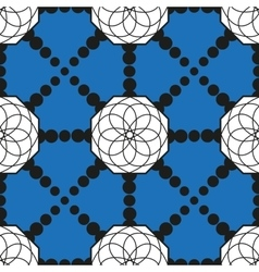 seamless pattern with geometric shapes and dotted vector image