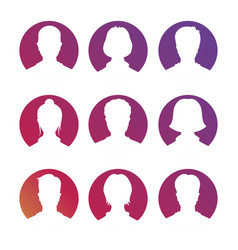 social netork and media avatars collection - white vector image vector image