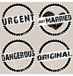 black grunge stamps vector image