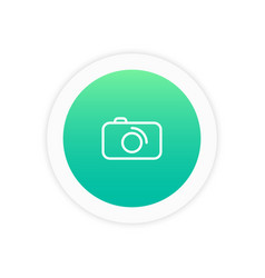 camera icon sign vector image vector image