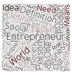 Define entrepreneur 1 text background wordcloud vector