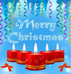 Festive image of burning candles on the background vector image
