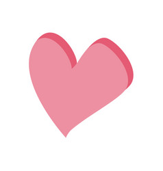 love heart romantic feeling symbol vector image vector image