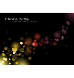 Magic lights vector