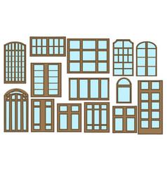 set of window vector image