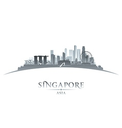 Singapore city skyline silhouette vector image