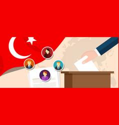 turkey democracy political process selecting vector image