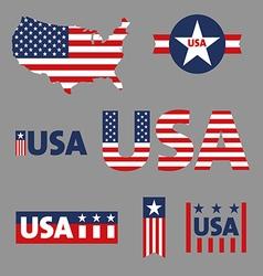 USA labels sign tag set vector image