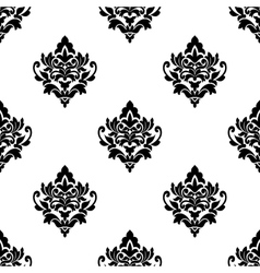 Black and white seamless arabesque pattern vector image vector image