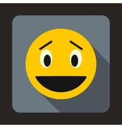 Confused emoticon icon flat style vector image