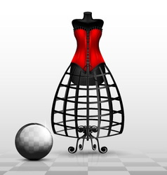 dummy and red corset vector image