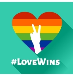 Love Wins - LGBT Heart vector image vector image
