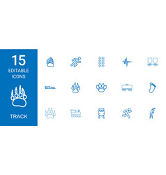 15 track icons vector