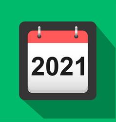 2021 calendar flat icon calendar cover sheet vector