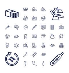 37 medicine icons vector
