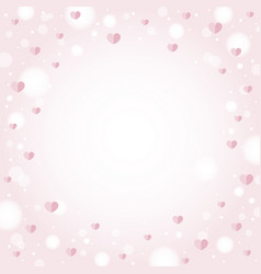abstract hearts background design for valentines vector image