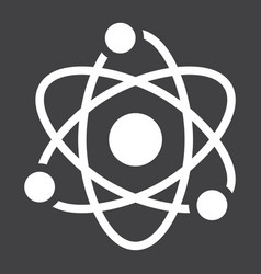 atom solid icon education and physics vector image