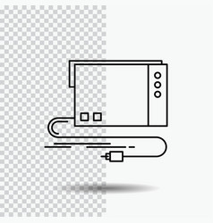 Audio card external interface sound line icon on vector