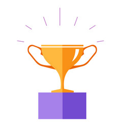 Award for winner prize cup made gold vector