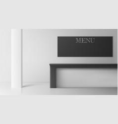 bar desk in cafe or coffee shop empty interior vector image