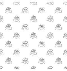 beautiful flower pattern seamless vector image