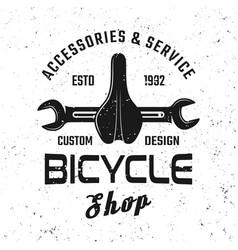 Bicycle service emblem badge label logo vector